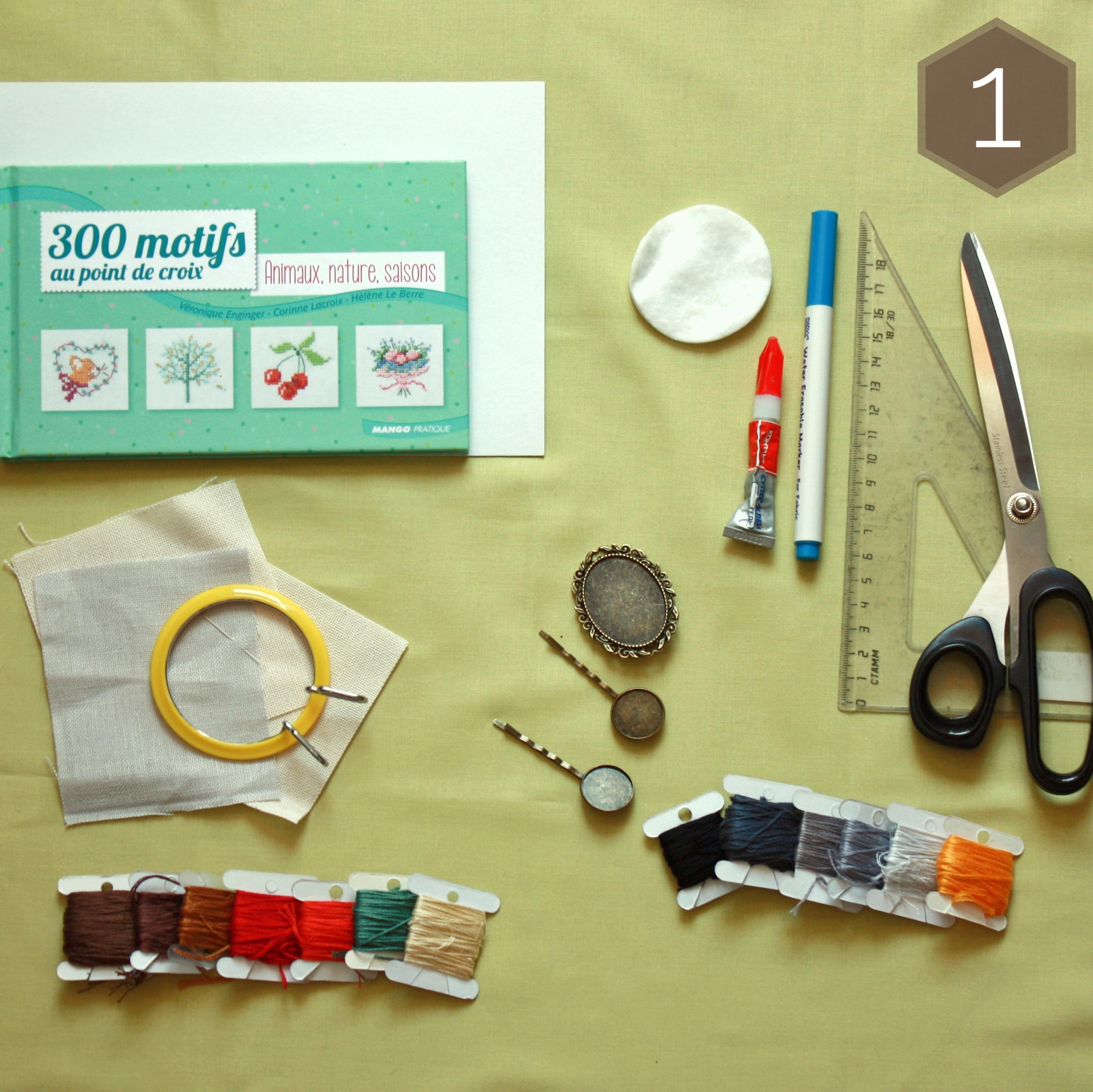инструменты и материалы для изготовления бижутерии с вышивкой