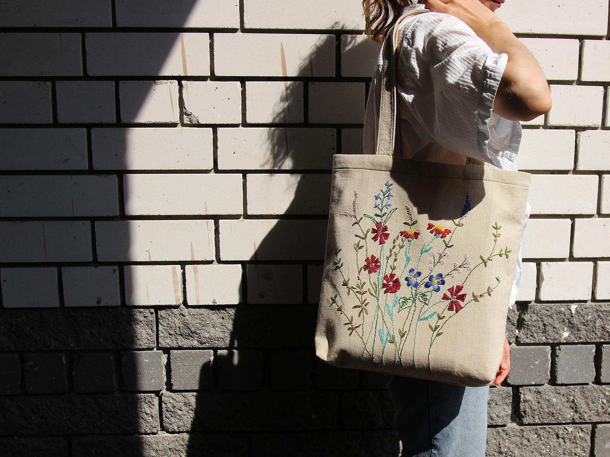 5ff79b268e4f Эко-сумка шоппер с вышивкой: мастер-класс по изготовлению.