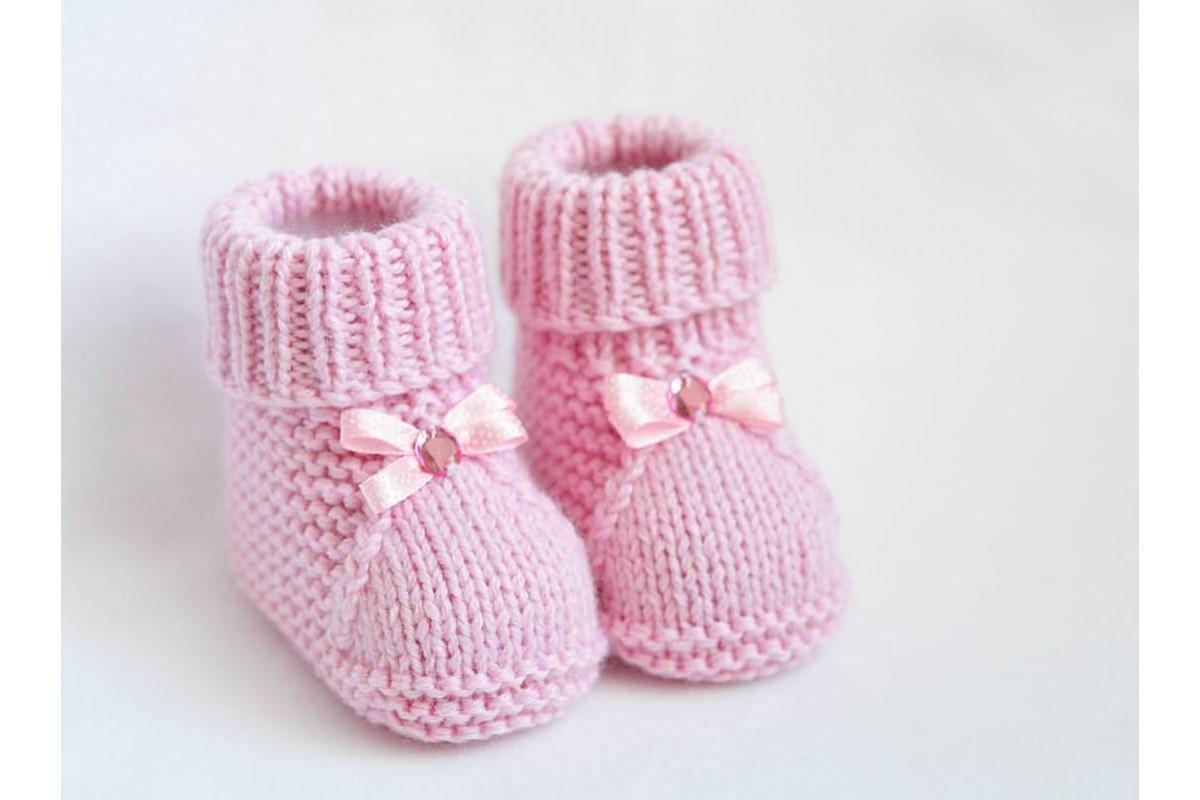 вязание пинетки для маленьких
