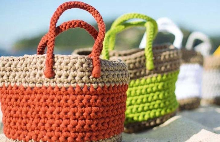 идеи пляжных вязаных сумок схемы и описания блог интернет
