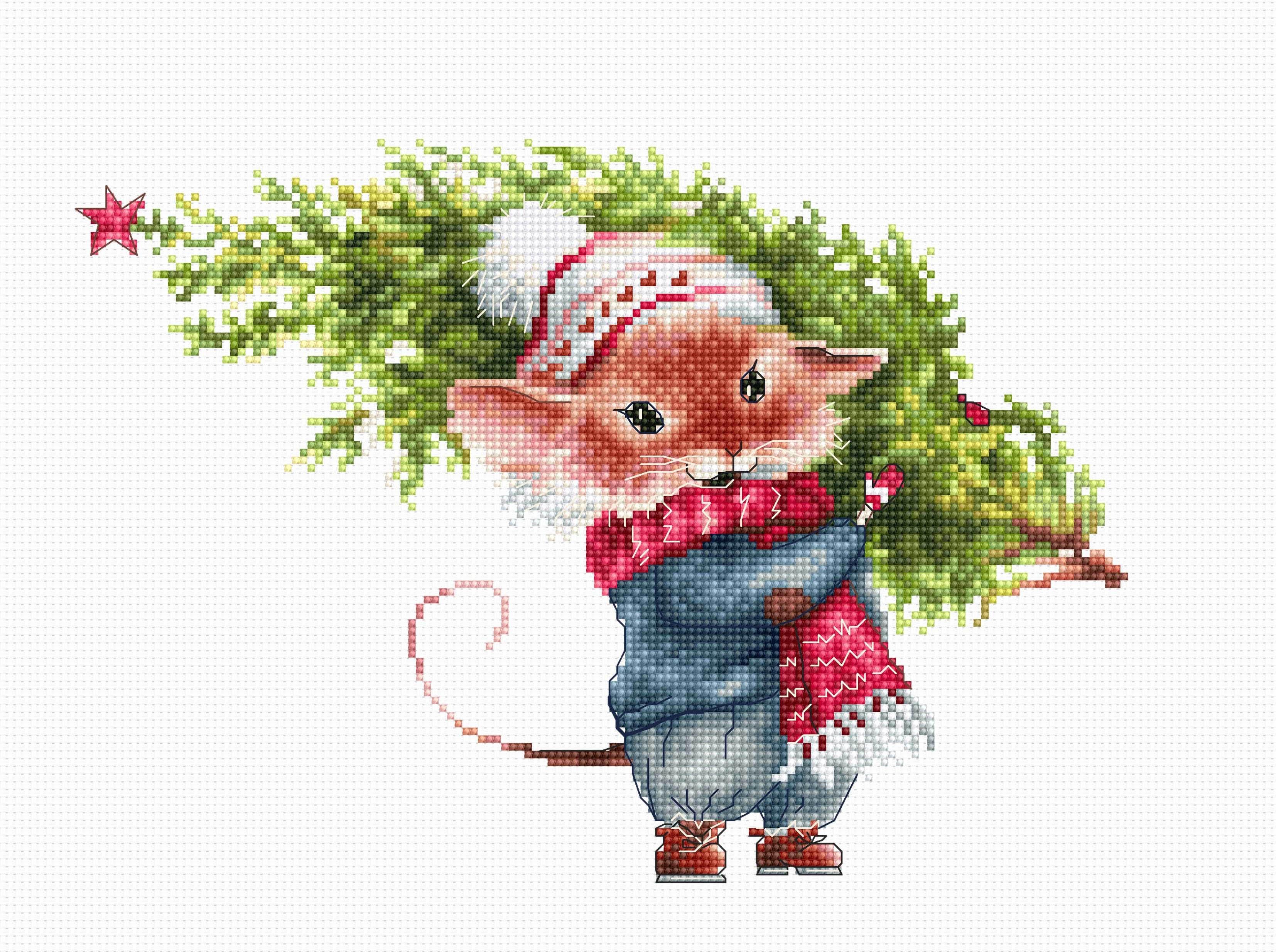 Открытки февраля, открытки на новый год с мышками